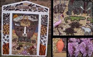 Stretton Handley Well Dressing, Noah's Ark – 2004