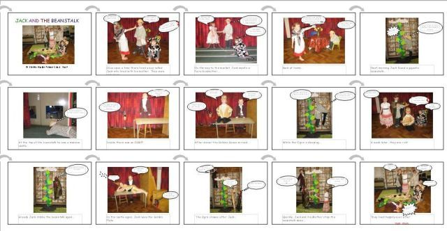 Jack and the Beanstalk comic strip