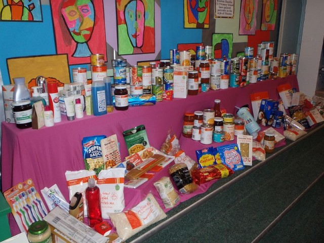 Contributing to Clay Cross Food Bank