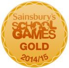 Sainsburys school games gold award
